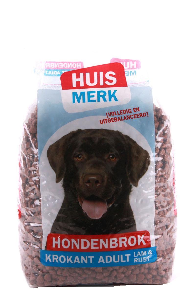 huismerk hondenbrok krokant adult 10 kg
