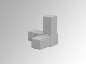 3-punt hoekje (20 x 20 x 1,5 mm)