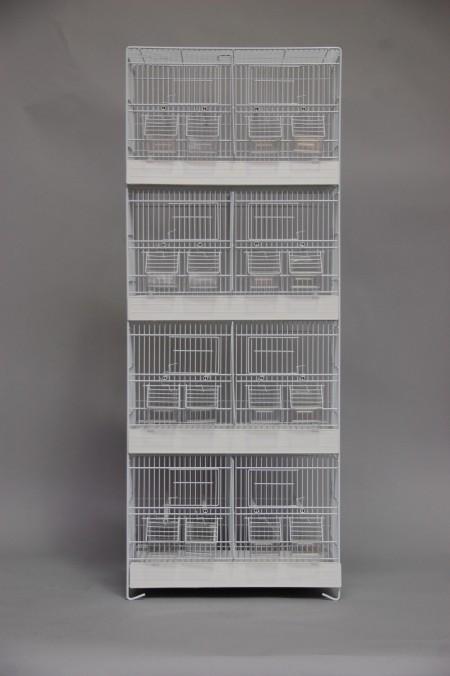 Toren vier hoog wit (50 x 27 x 128 cm)