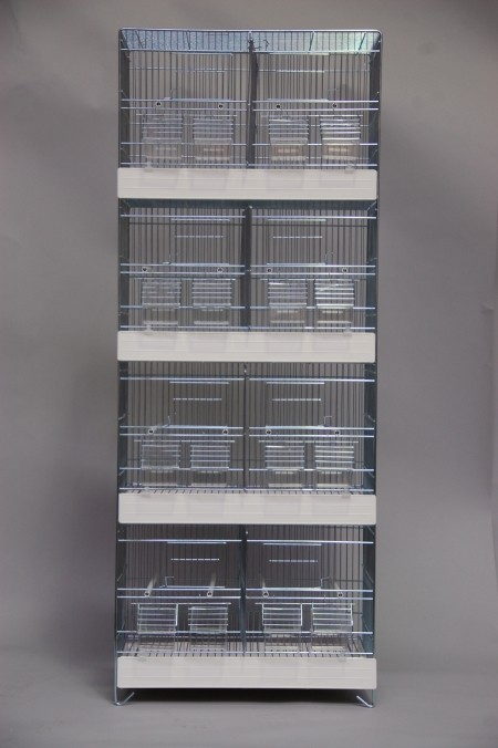 Toren vier hoog verzinkt met witte lades (50 x 27 x 128 cm)