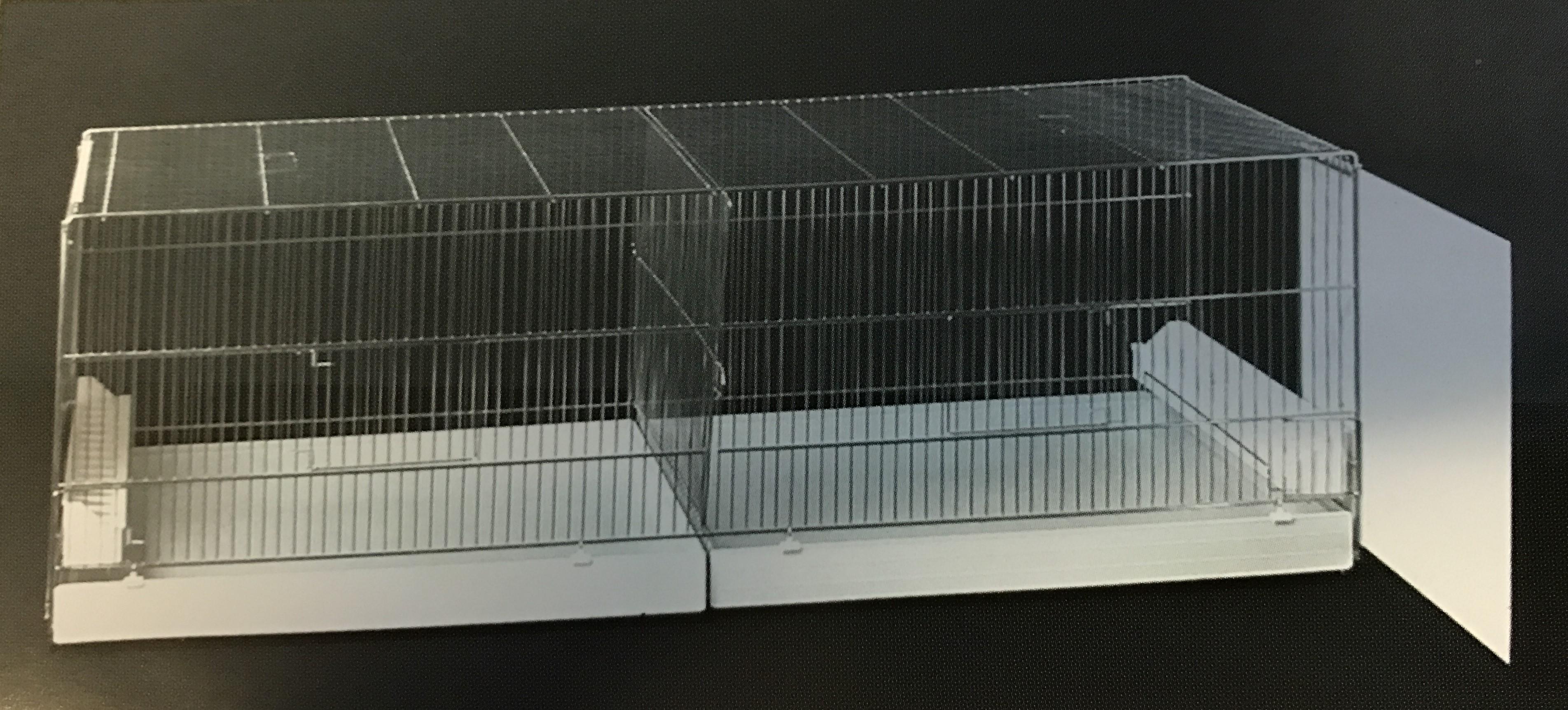 Uitvliegkooi Draadkooi met uitschuifbare zijkanten (120x50x44)