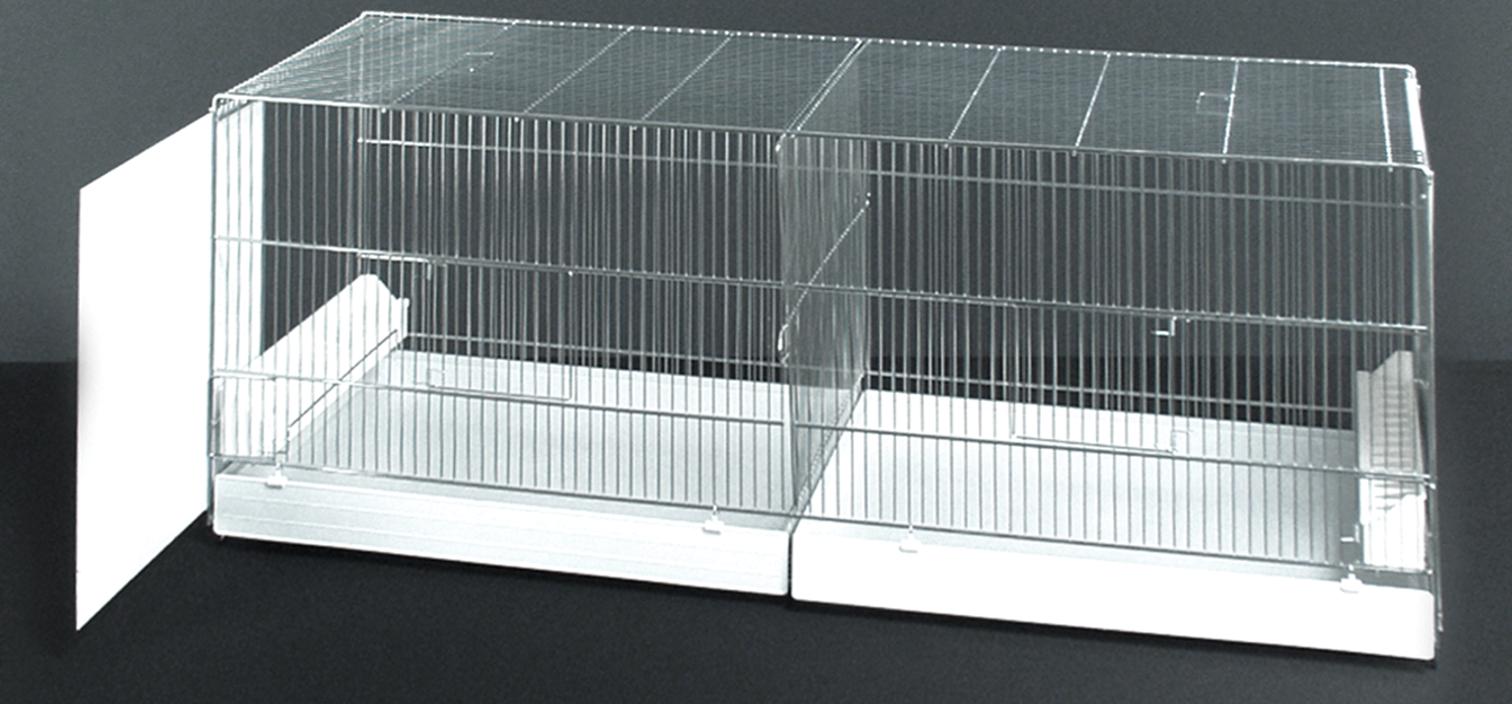 Uitvliegkooi Draadkooi met uitschuifbare zijkanten (90 x 40 x 44 cm)
