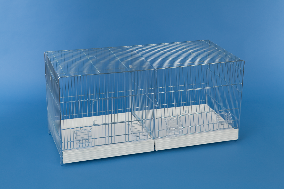 Uitvliegkooi Draadkooi met externe voederbakjes (90 x 40 x 44 cm)
