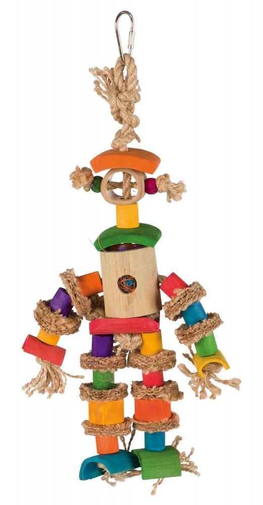 Natuurspeelgoed aan Jute touw