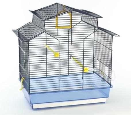 Vogelkooi Chalet transparant blauw