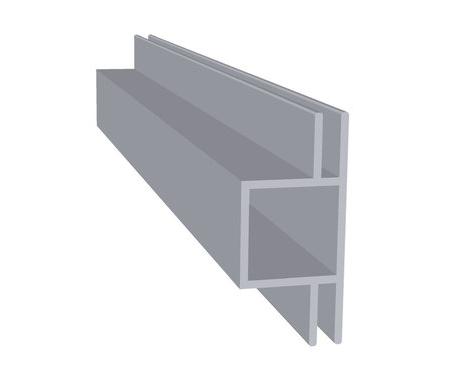 Aluminium dubbel flens 3 mm (20 x 20 x 1,5 mm)