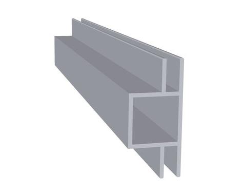 Aluminium dubbel flens 4 mm (20 x 20 x 1,5 mm)