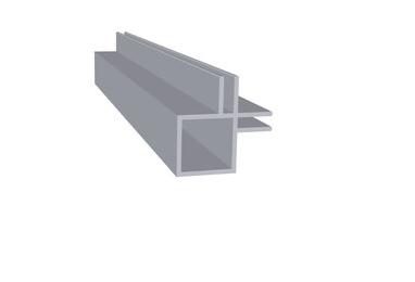 Aluminium dubbel flens 3 mm binnenkant hoek
