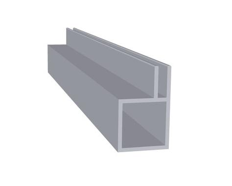 Aluminium met flens 3 mm (20 x 20 x 1,5 mm)