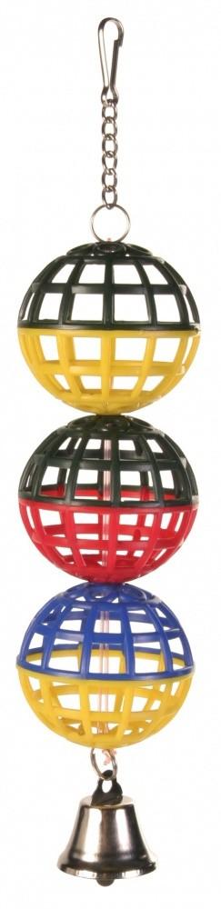 Vogelspeeltje drie ballen met belletje