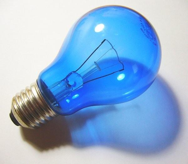 Blauwe Gloeilamp