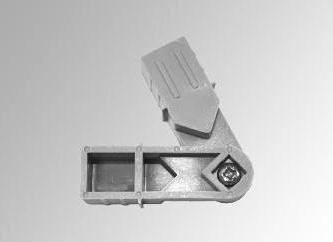 Draaibaar hoekje met schroef (20 x 20 x 1,5 mm)