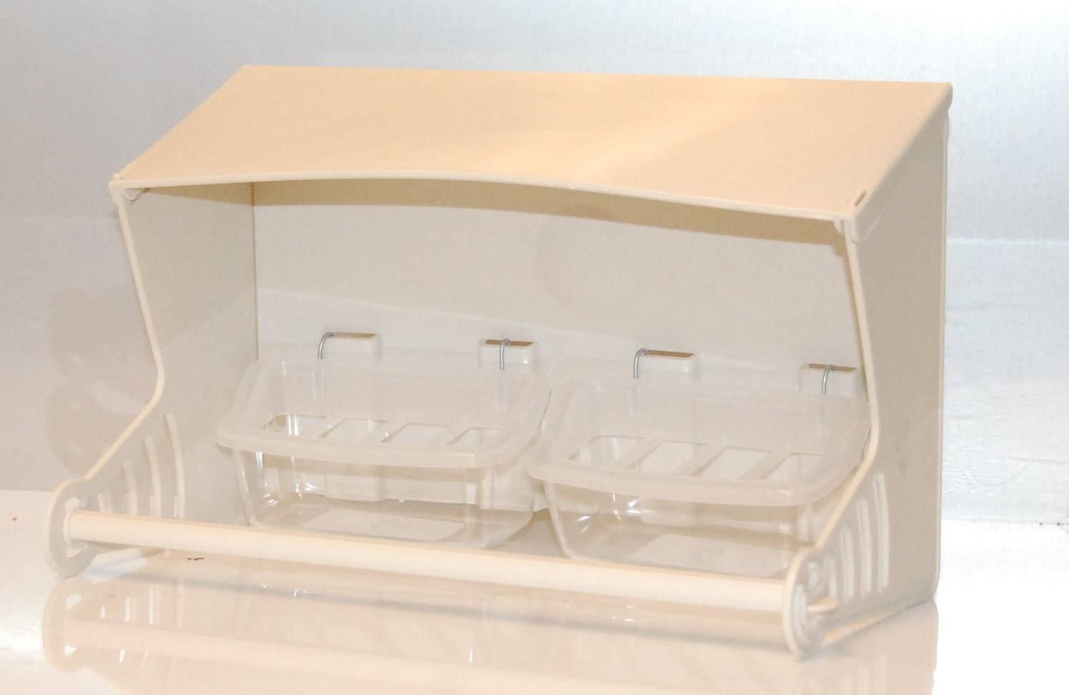 Kunststof silo voor volière exclusief voerbakjes