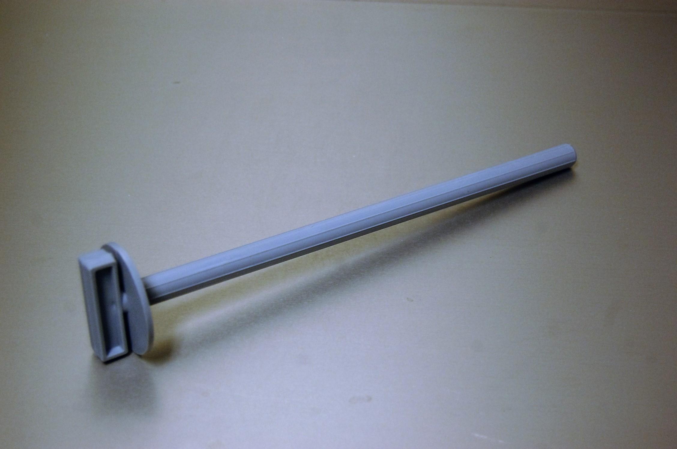 Draaizitstok 22 cm Grijs