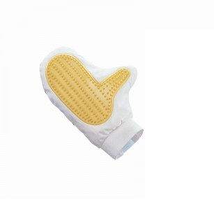 Handborstel met handschoen