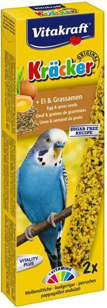 Vitakraft Kräcker ei & graszaden voor parkieten