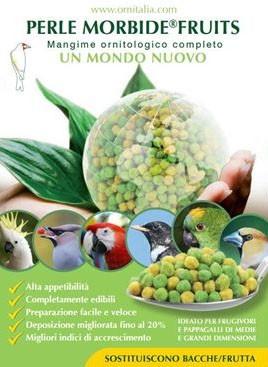 Perle morbide fruit kiemzaadvervanger. Gebruiken in het eivoer