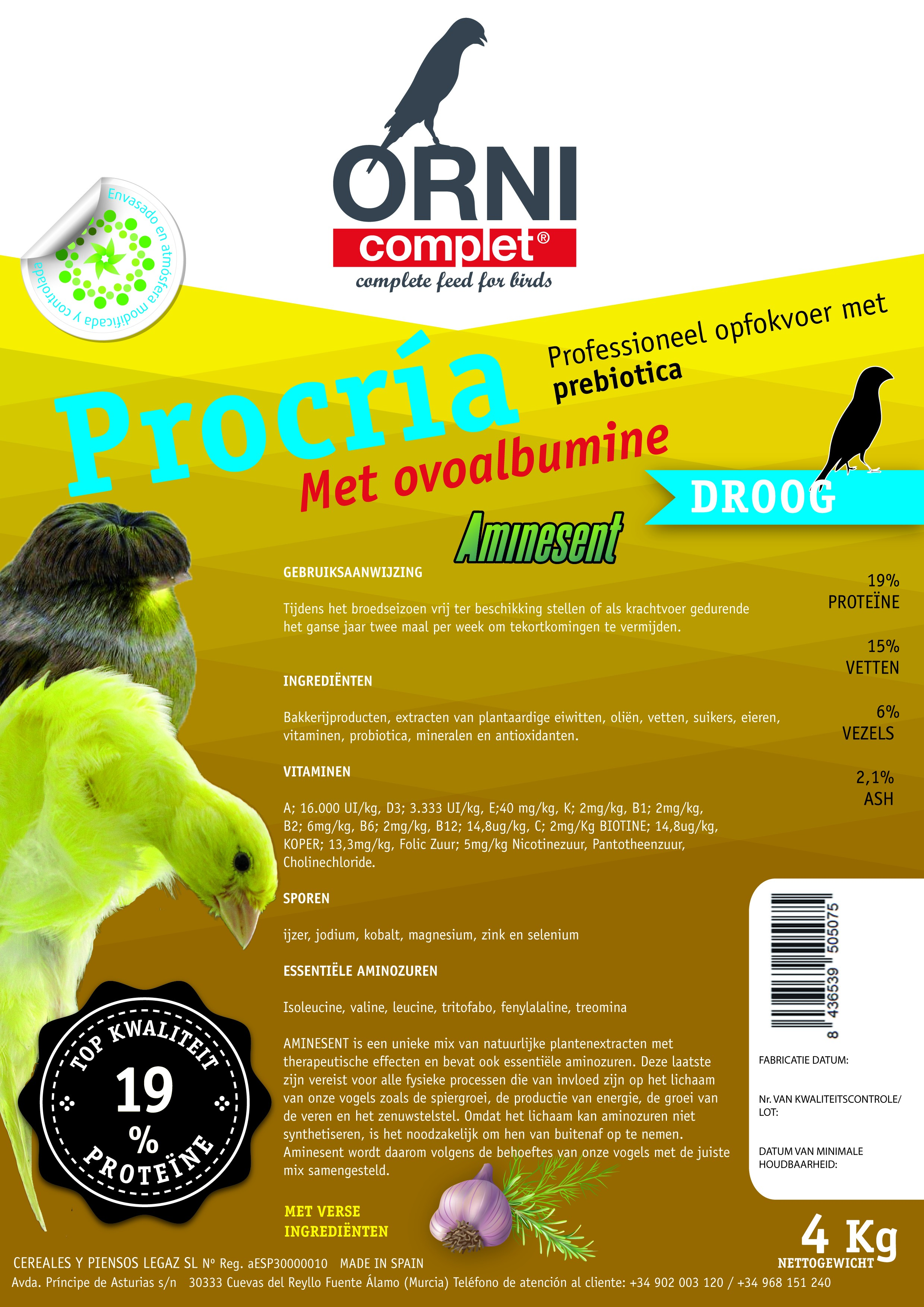 ORNI Complet droog eivoer