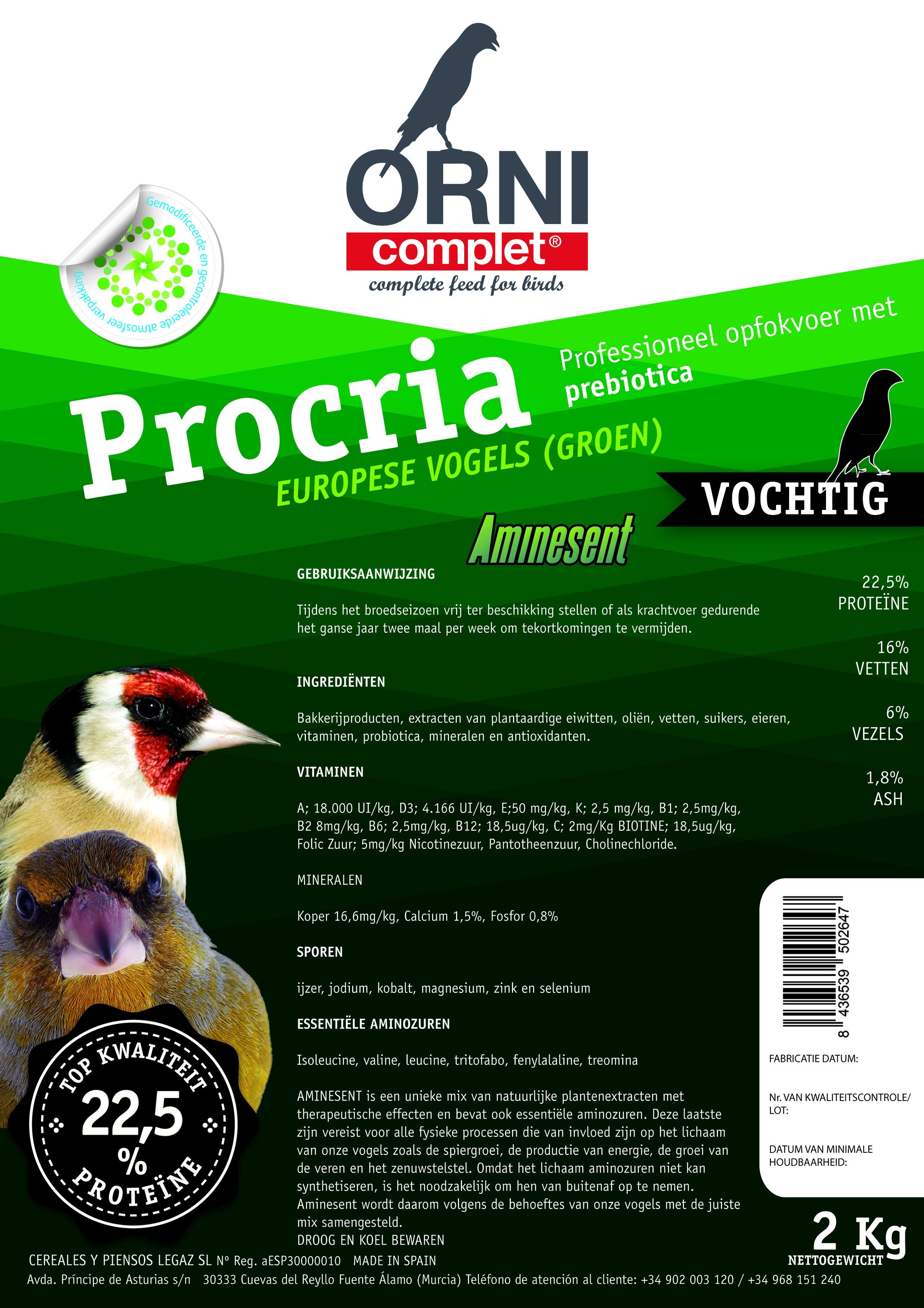 ORNI Complet eivoer voor Europese vogels groen