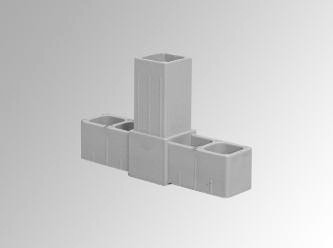 T-stukje (20 x 20 x 1,5 mm)