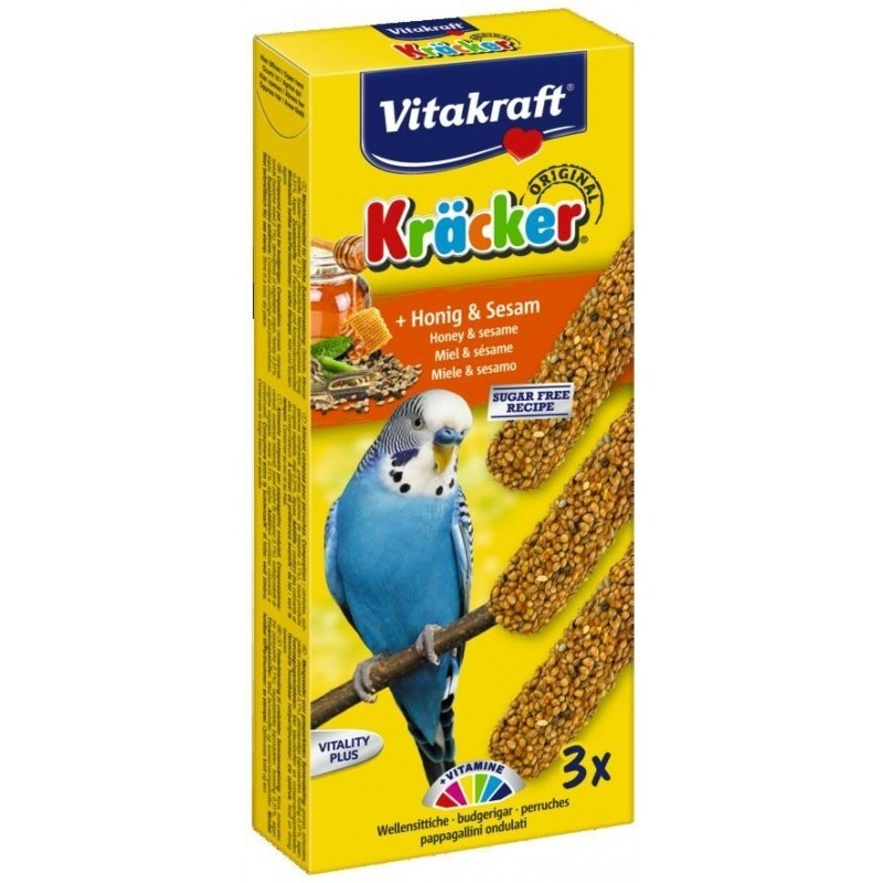 Vitakraft kracker Honing & Sesam 3 sticks