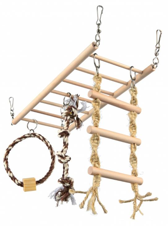 brug met speeltjes voor knaagdieren