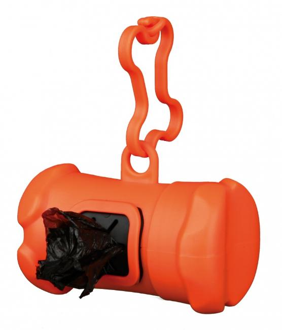 Oranje hondenpoepzakjeshouder