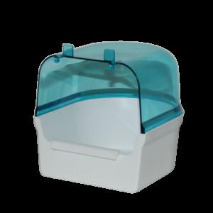 Badhuis wit/transparant blauw