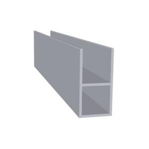 Aluminium met flens 16 mm (20 x 20 x 1,5 mm)