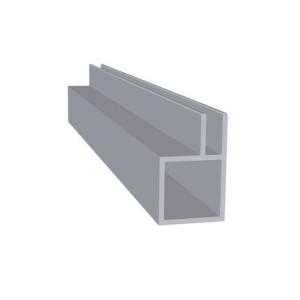 Aluminium met flens 4 mm (20 x 20 x 1,5)