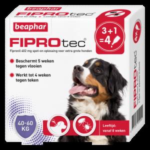 Beaphar Fiprotec Spot-On hond 40-60kg 3+1 pipetten