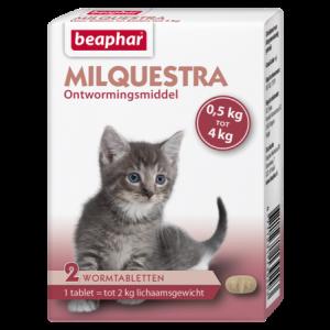 Beaphar Milquestra Wormtabletten kleine kat / kitten