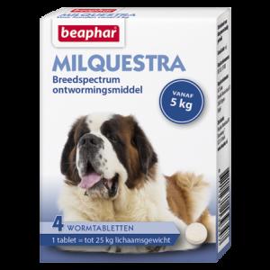 Beaphar Milquestra wormtabletten hond 4 tabl.