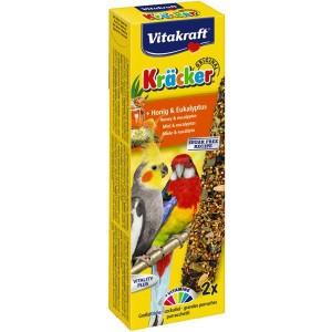 Vitakraft Kräcker honing & eucalyptus voor grote parkieten
