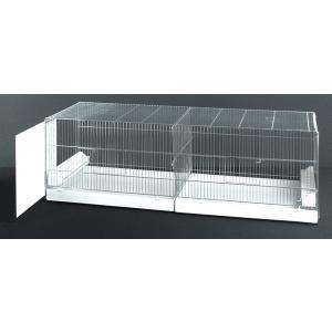 Uitvliegkooi Draadkooi met uitschuifbare zijkanten (120 x 40 x 44 cm) Wit