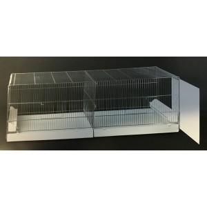 Uitvliegkooi Draadkooi met uitschuifbare zijkanten (120 x 50 x 44 cm)