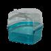 Badhuis transparant blauw/transparant